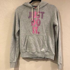 Gray Nike hoodie like new!